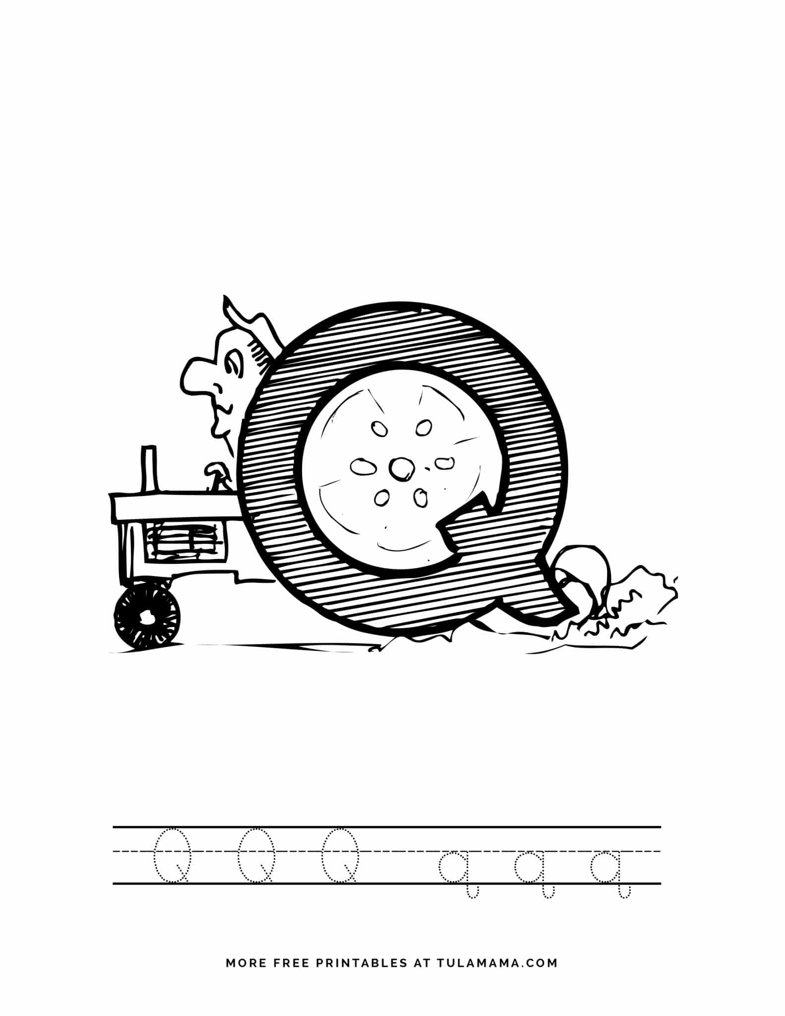 Free And Fun Automobile Alphabet Tracing Pages For