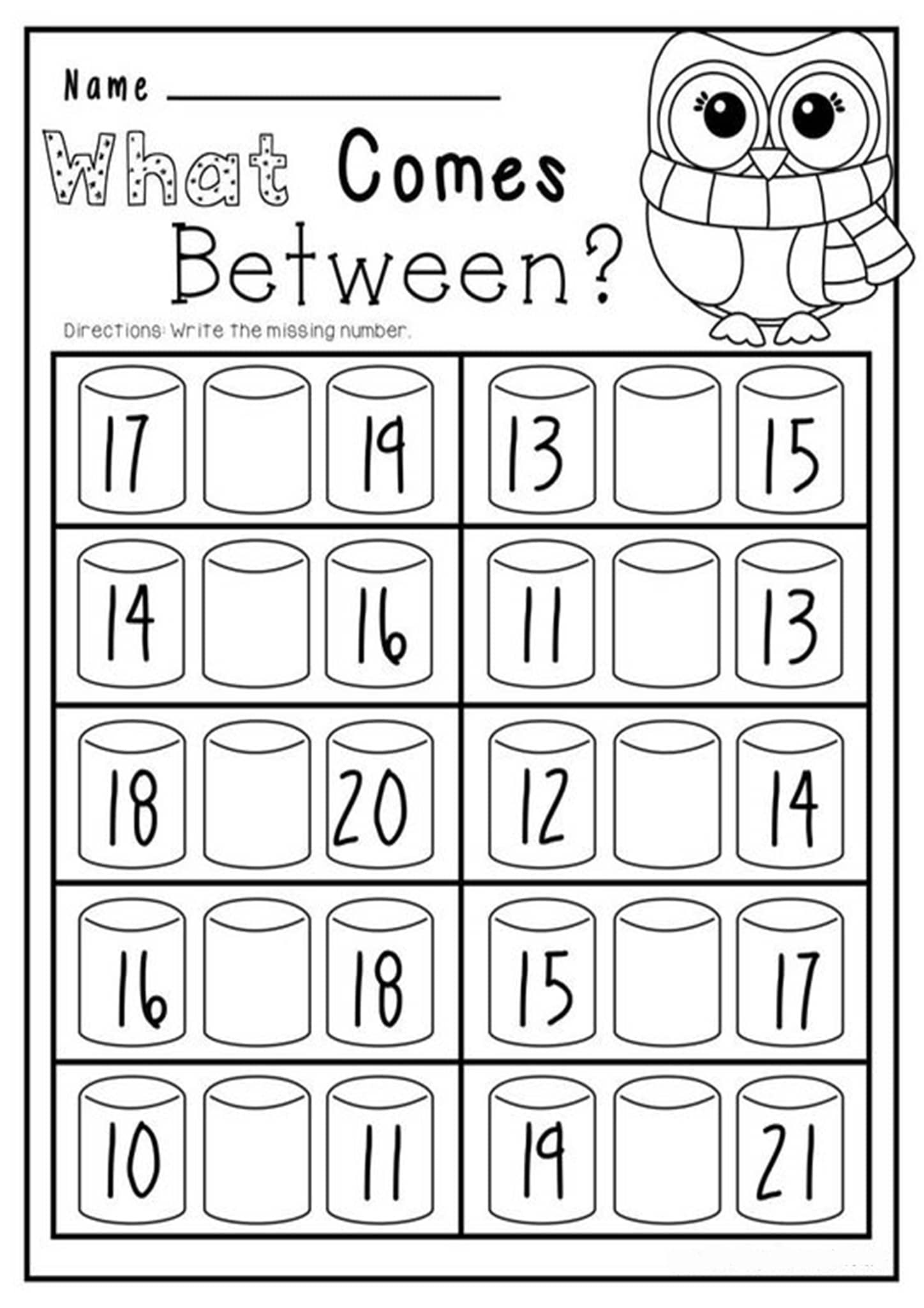 Free Amp Fun Missing Number Worksheets