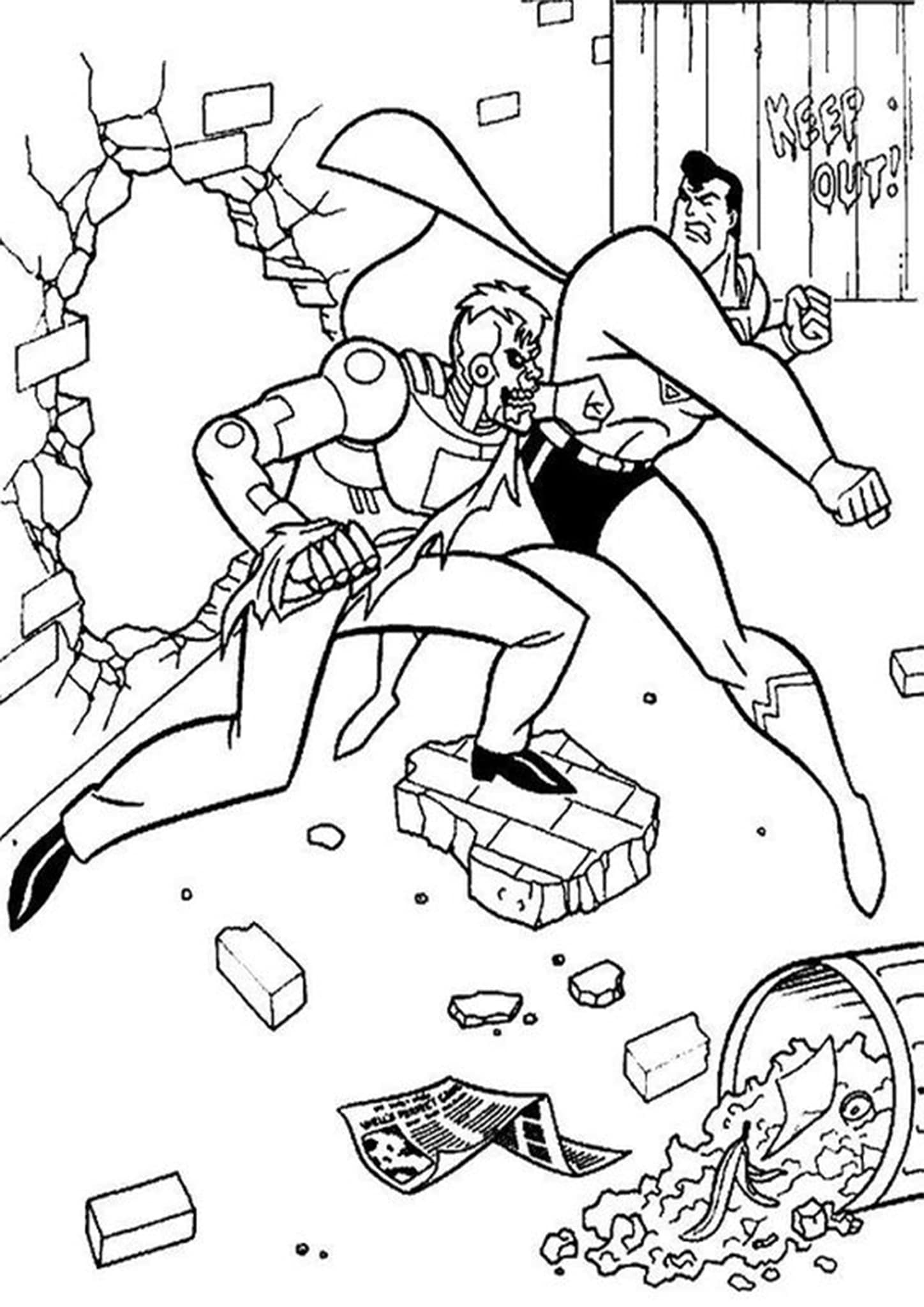Free Amp Easy To Print Superman Coloring Pages