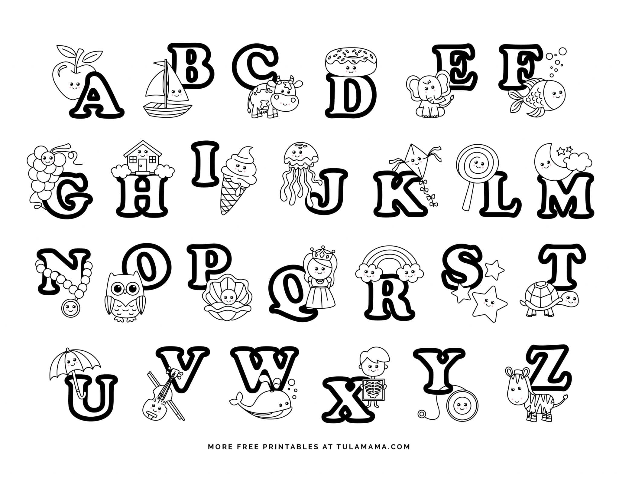 Fun And Easy To Print Abc Coloring Pages For Preschoolers