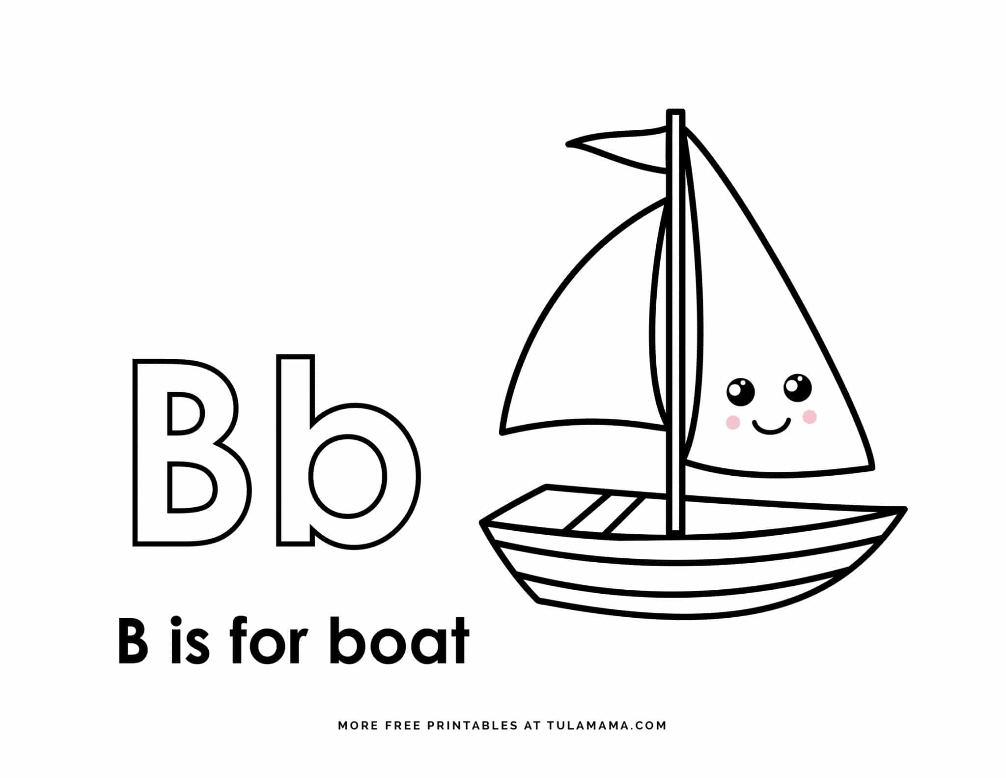 Fun Free Amp Easy To Print Letter B Coloring Pages