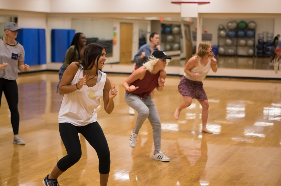Members of Dat Dance Crew practice their moves in Reily Student Recreation Center. The group has an upcoming performance with Tulane's dance department.*Disclaimer: Dat Dance Crew members Kate Jamison and Sam Ergina serve on The Tulane Hullabaloo Board. Neither party was involved in the writing or editing of this article.
