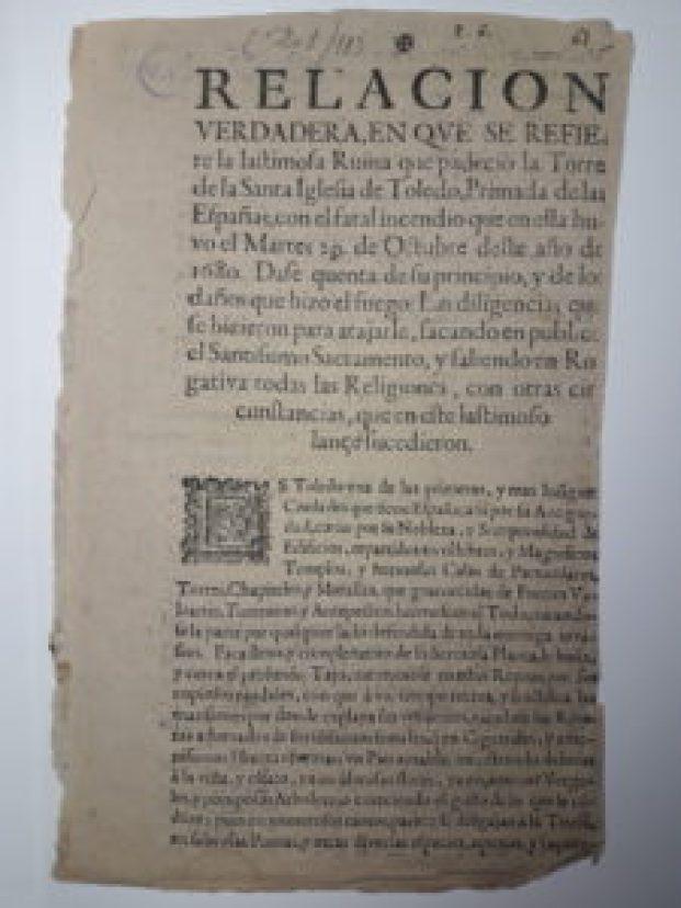 29 de octubre de 1680: incendio en la Catedral de Toledo