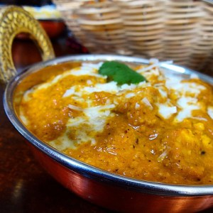 Plato de Chicken tikka Masala curry