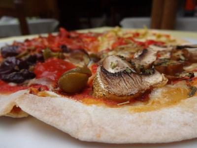 Pizza en el Graspo de Uva
