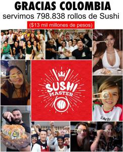 gracias colombia sushi master total