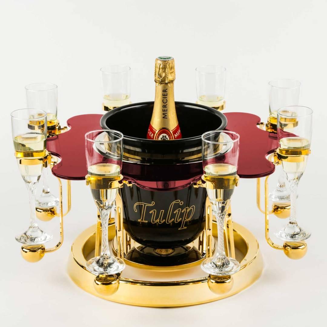 écrin à champagne de luxe élégance édition