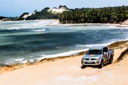 Paisagens exuberantes do Nordeste também estão no roteiro. Crédito: Ricardo Leizer / Mitsubishi