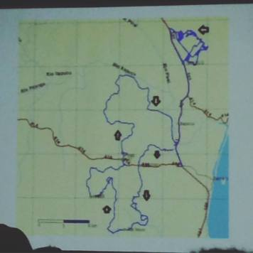 Track da prova apresentado durante o briefing