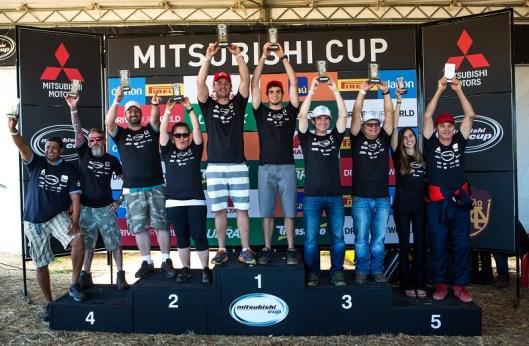 As melhores duplas são premiadas a cada etapa e somam pontos para o campeonato Crédito: Ricardo Leizer/Mitsubishi
