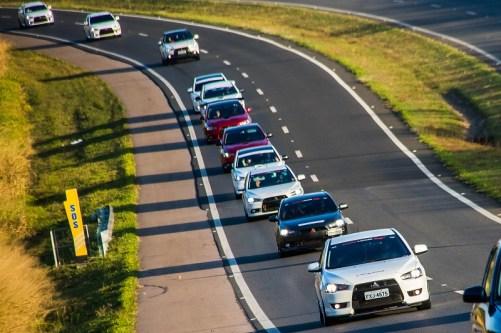 Sessenta carros chegaram em comboio para o Lancer Day e Fun Day Crédito: Cadu Rolim/Mitsubishi