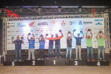 A dupla Lucas Teixeira e Rafael Dias subiu no terceiro lugar da Pró Brasil (Sanderson Pereira/Photo-S Imagens)