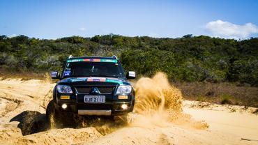 Piso de areia e saibro são marcas registradas da etapa de Fortaleza Crédito: Adriano Carrapato / Mitsubishi