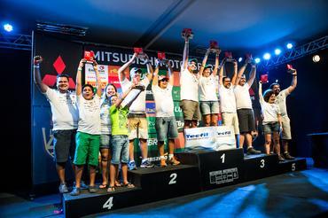 Os melhores de cada categoria sobem ao pódio Crédito: Ricardo Leizer / Mitsubishi