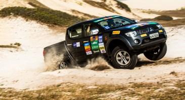 Etapa de Fortaleza (CE) do Mitsubishi Motorsports foi marcada por muita areia - Crédito: Ricardo Leizer / Mitsubishi