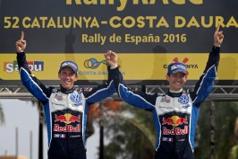 Julien Ingrassia (F), Sébastien Ogier (F) WRC Rally Catalunya 2016 Photo: Bodo Kräling