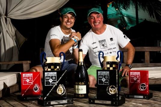 Paulo Góes e Jonathan Ardigo foram os campeões da Graduados. Foto: Tom Papp / Mitsubishi Motors