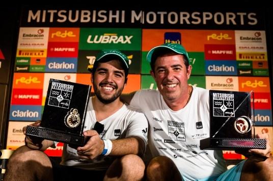 João Carlos e João Paulo Resende conquistaram o campeonato na Turismo. Foto: Tom Papp / Mitsubishi Motors