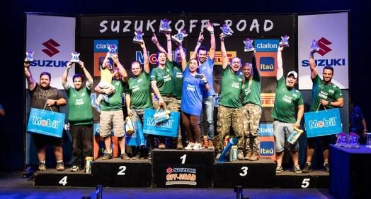 Pódio Suzuki Extreme. Foto: Tom Papp / Suzuki