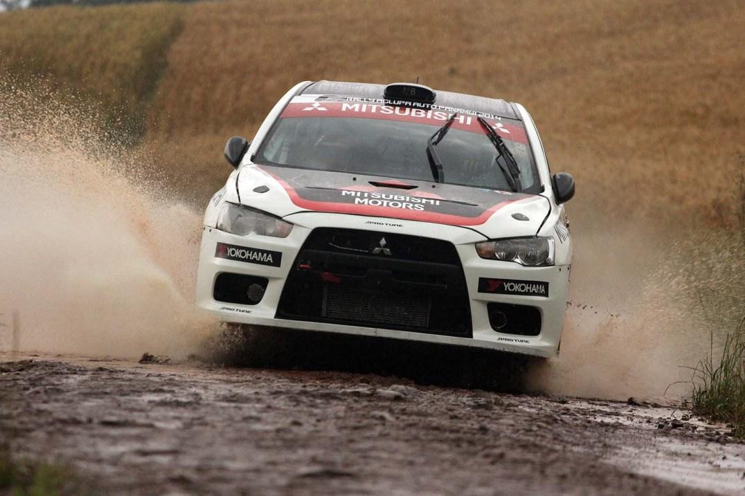 Ulysses Bertholdo venceu Campenato Brasileiro do Rally de Velocidade 2016. Foto: Divulgação / Mitsubishi