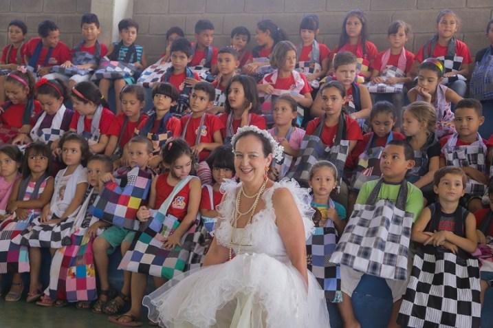 O encontro com as crianças aconteceu na manhã da sexta-feira (24/03) (Lucas Carvalho//Photo Action)