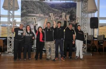 Fontoura/Minae (ao centro): Campeões do Rally Rota SC na Pró Brasil (Luciano Santos/DFotos)