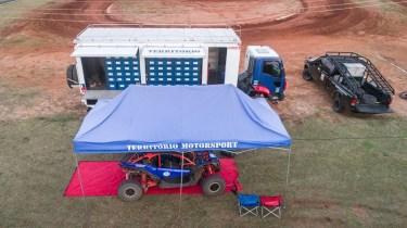 Território Motorsport no parque de apoio, em São Manoel (Nelson Santos Jr/Photo Action)