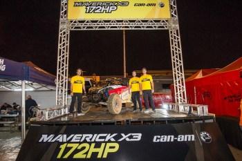Os irmãos Rodrigo, Gabriel e Bruno Varela (da esquerda para direita) no evento de lançamento do novo UTV Can-Am Maverick X3 X rs Turbo R de 172HP Crédito: Doni Castilho/DFotos