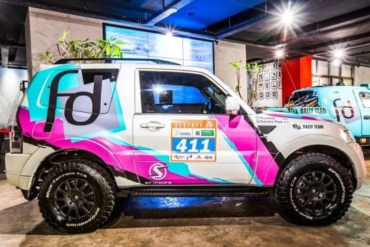 Pajero Full da única mulher piloto do grid de Regularidade do Rally dos Sertões (André Mortatti/Mitsubishi)