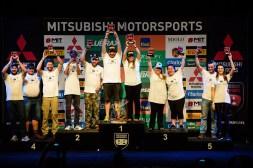 No final da etapa, os melhores de cada categoria sobem ao pódio. Foto: David Santos Jr / Mitsubishi