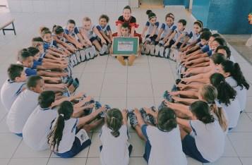 Em Araçatuba, 120 alunos participaram da ação social (Pedro Santos/Photo Action)