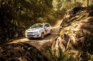 Muitos desafios no off-road. Foto: Ricardo Leizer / Mitsubishi