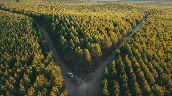 Em meio a eucaliptos, técnica e habilidade dos pilotos foram muito exigidas (Foto: Pedro Henrique Santos/PhotoAction)