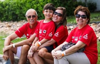 Famílias e amigos participam da prova (Foto: Ricardo Leizer / Mitsubishi)