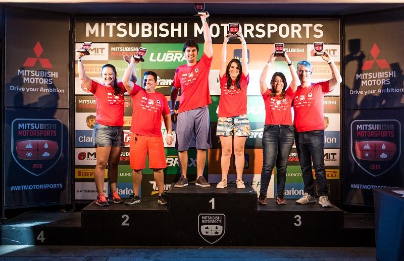 No fim de cada etapa, os melhore sobem ao pódio (Foto: Ricardo Leizer/Mitsubishi)