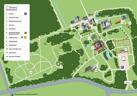 map Castle Keukenhof