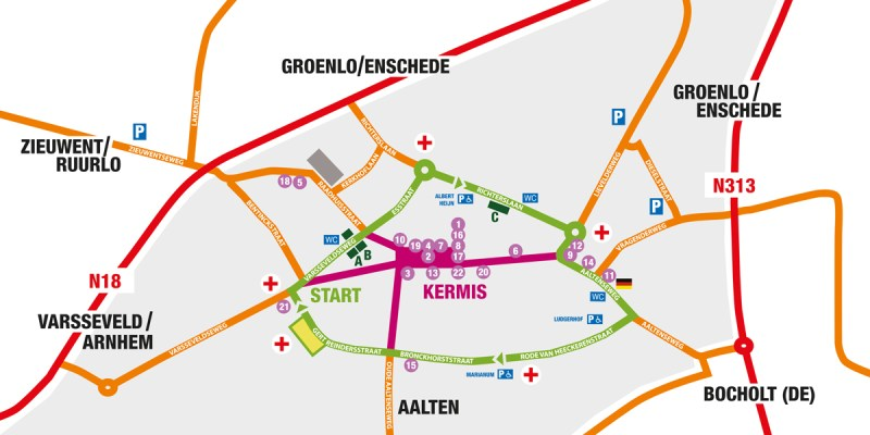 map lichtenvoorde flower parade