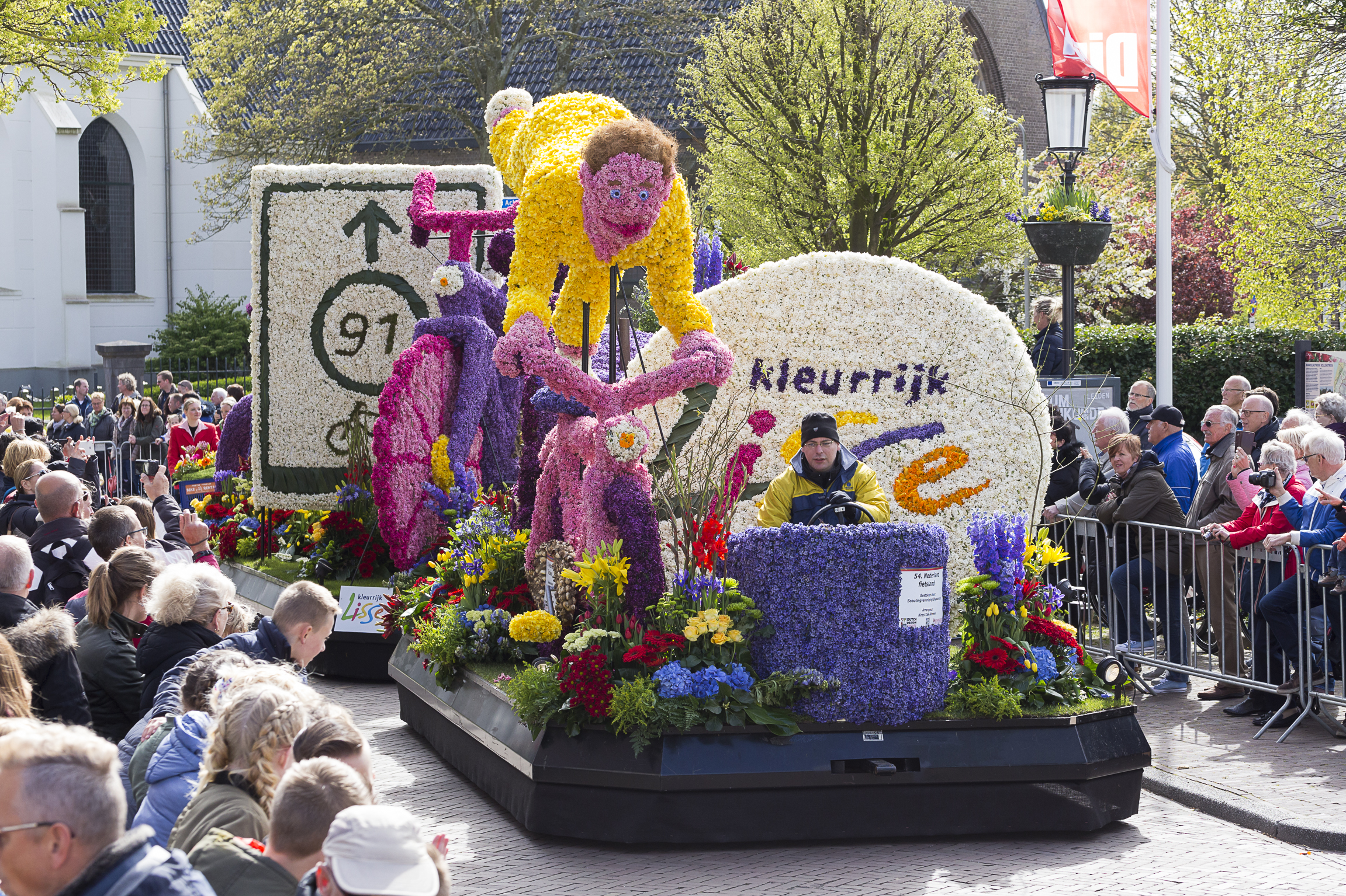 Making of the flower parade
