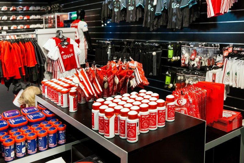 During your Ajax stadium tour you can buy the best Ajax stuff in the official Ajax fan shop.