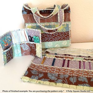 3 Piece Knitters Tote Set-tulip-square-quilt-patterns