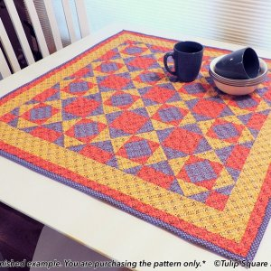 Classic Kitchen table topper-tulip-square-quilt-patterns
