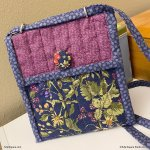 quilted bag with fabric covered button-tulip-square-quilt-patterns