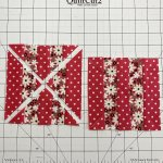 How to disappearing stripes quilt blocks