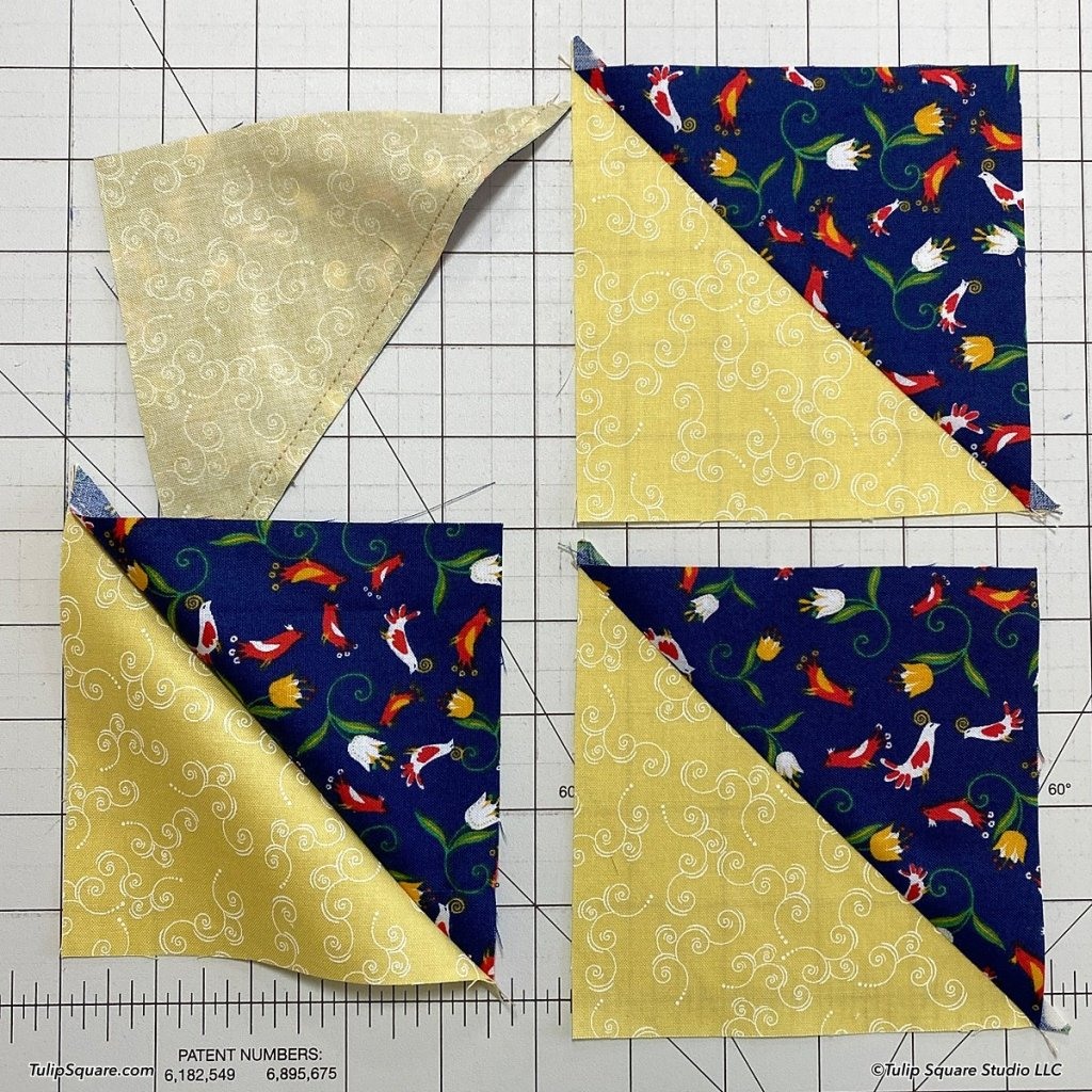 How to make disappearing windmills quilt blocks step 4