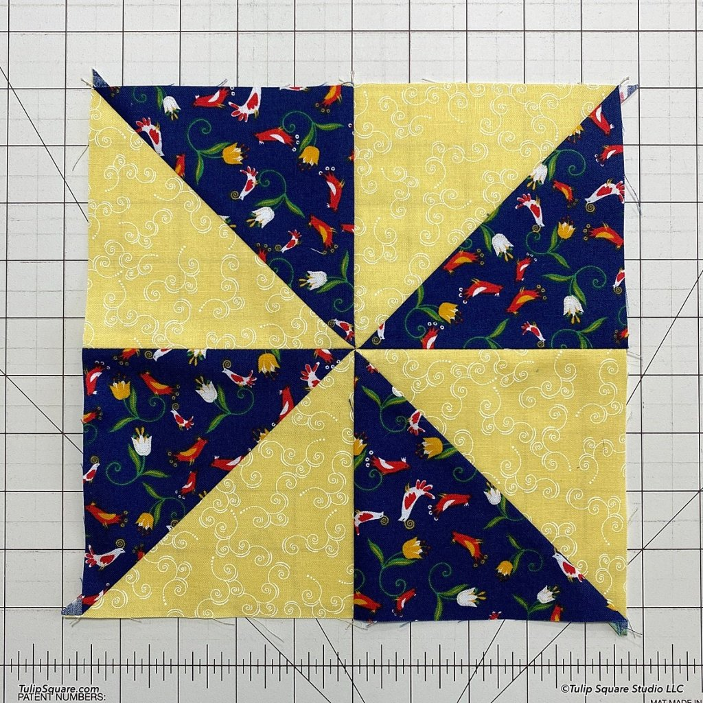 How to make disappearing windmills quilt blocks step 7