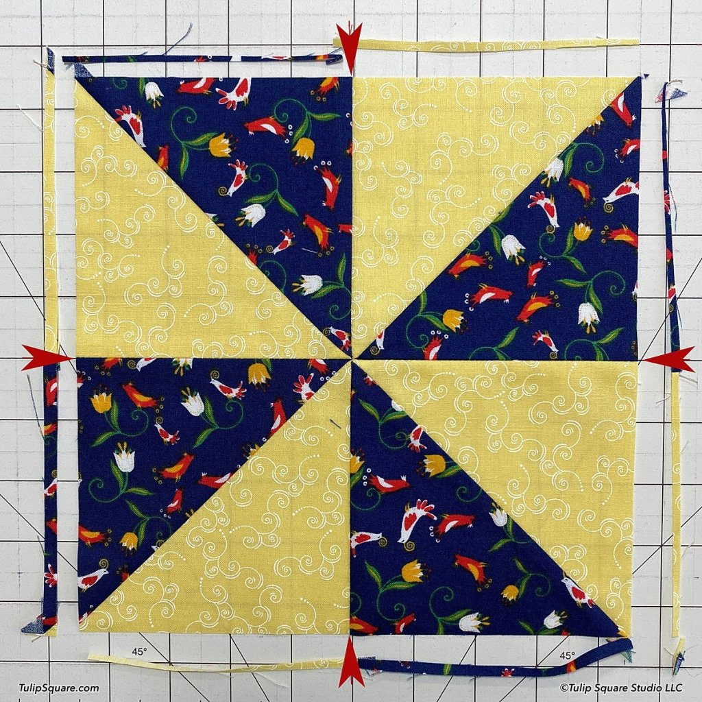 How to make disappearing windmills quilt blocks step 8