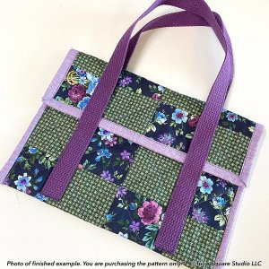 Flap Top Tablet Tote Quilted Bag Pattern