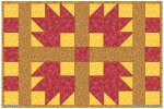 Snazzy Squares Autumn Placemat Pattern