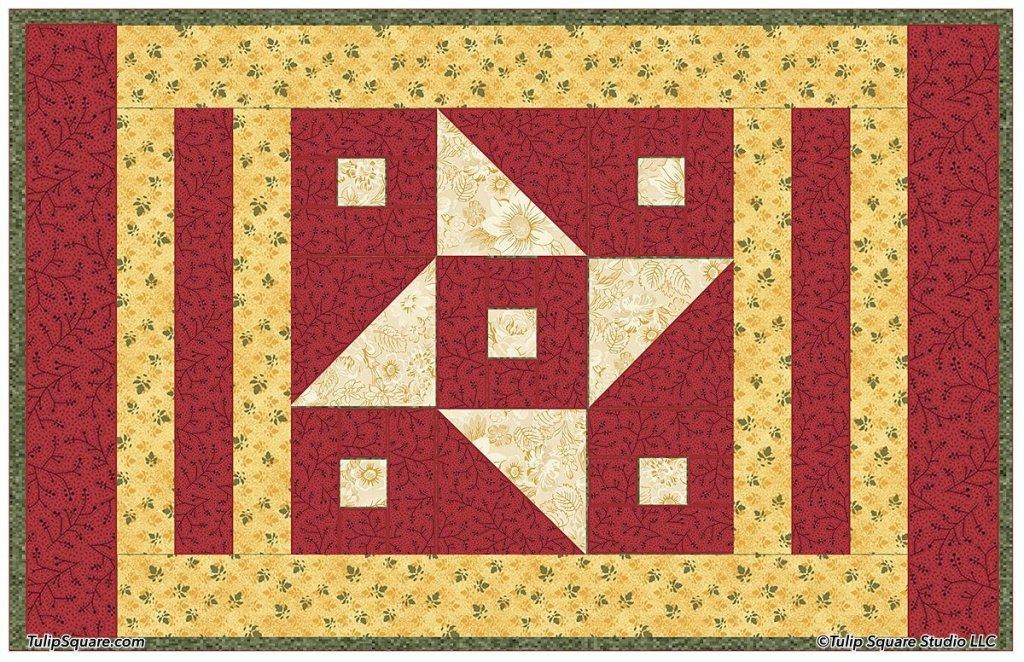 Star Flower Autumn Placemat Pattern
