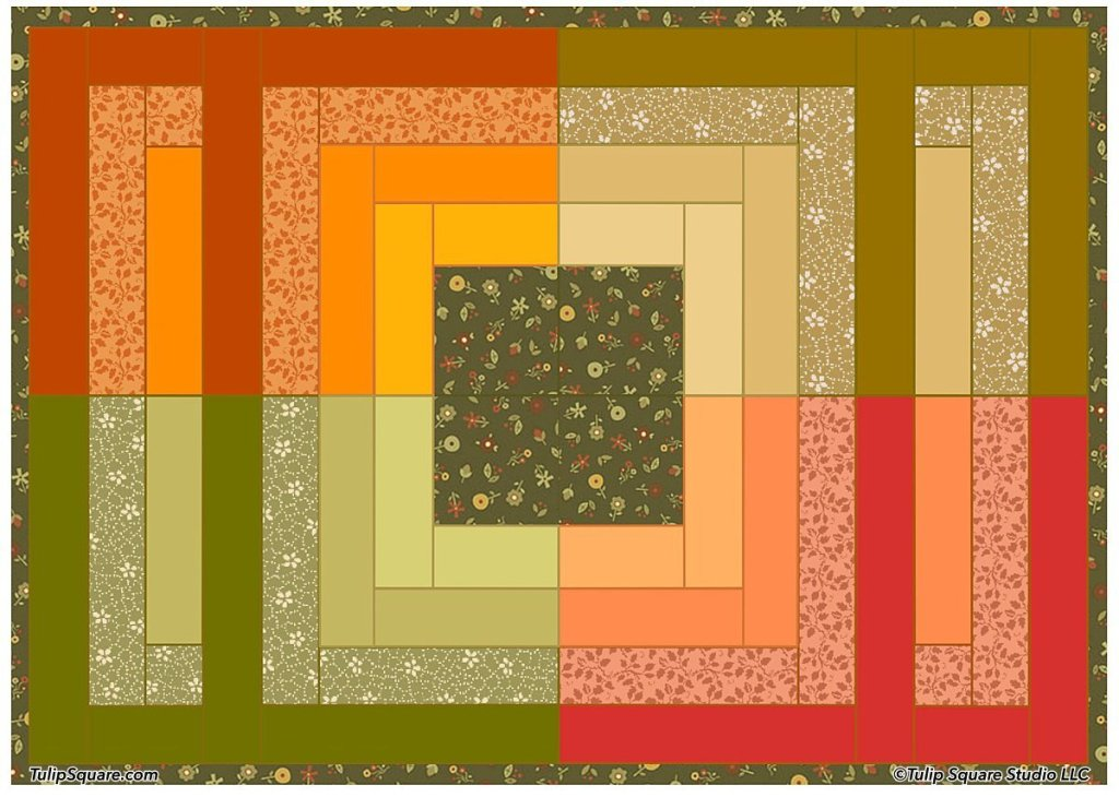 FOUR SQUARE MEALS QUILTED AUTUMN PLACEMAT PATTERN